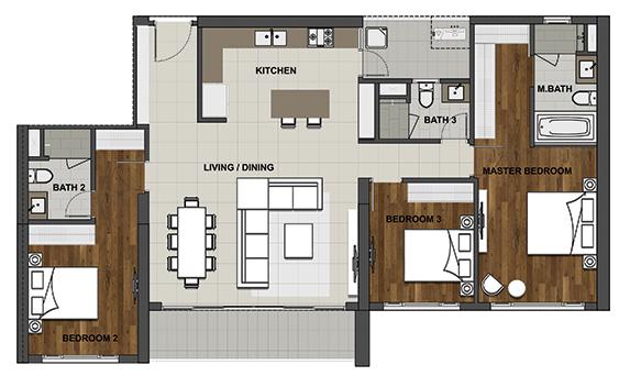 3BL-2 146.4 m2 - 131.8 m2