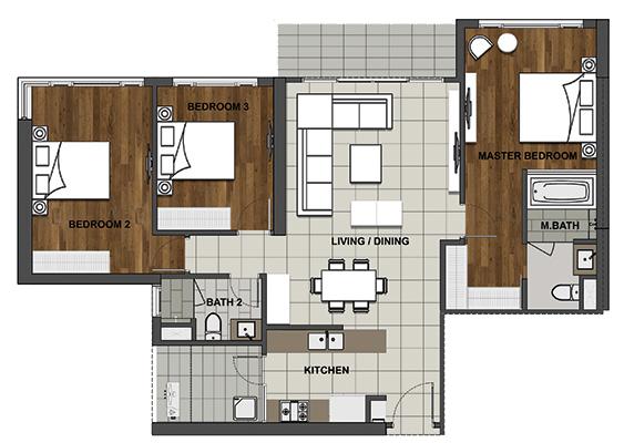 3BS-1 125.3 m2 - 112.6 m2